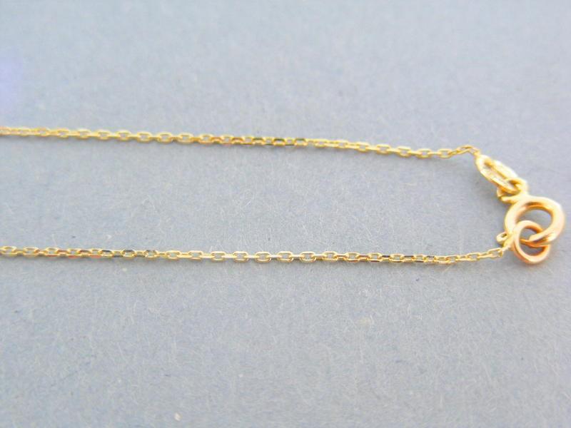 0590c6670 Zlatá retiazka s príveskom žlté zlato kamienky VR43209Z 14 karátov 585/1000  2.09g. Loading zoom