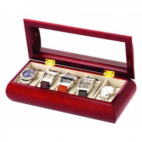 Pánska drevena šperkovnica na hodinky 453
