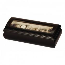 Pánska šperkovnica na hodinky čierne drevo 454