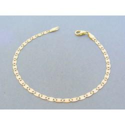 bdb7b5f03 Zlatý náramok platničky žlté biele červené zlato vzorované VDN18203V 14  karátov 585/1000 2.03g