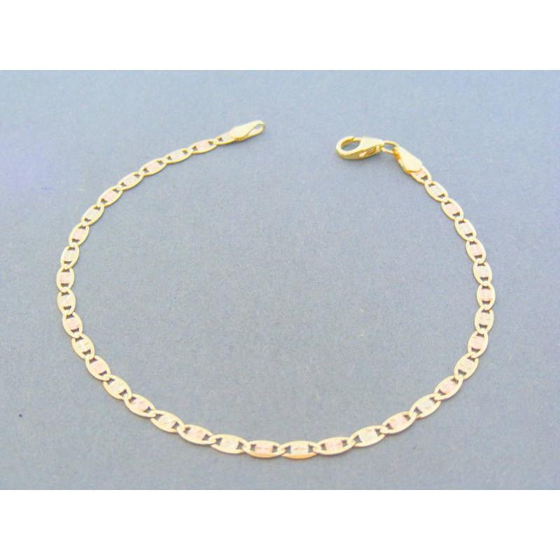 08e6c052c Zlatý náramok platničky žlté biele červené zlato vzorované VDN18203V 14  karátov 585/1000 2.03g. Loading zoom