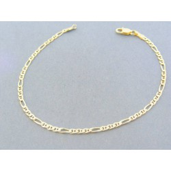 3b2d7e21b Zlatý náramok vzor figáro žlté zlato VDN18210Z 14 karátov 585/1000 2.10g