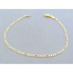 79a69d845 Zlatý náramok vzor figáro žlté zlato VDN18198Z 14 karátov 585/1000 1.98g