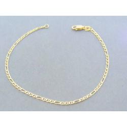 385617ae7 Zlatý náramok vzor figáro žlté zlato VDN19142Z 14 karátov 585/1000 1.42g