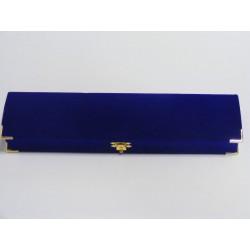 Zamatová krabička obdĺžnik modrá bordová 25/A10