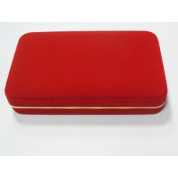 Zamatová krabička  červená CD10/A25
