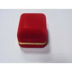 Zamatová krabička červená čierná CD-2/A7