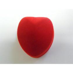 Zamatová krabička srdiečko červené biele bordové F-222/A7/A7