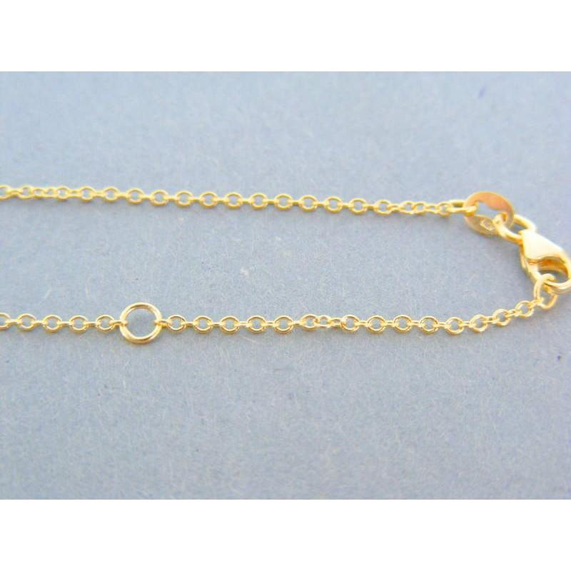 d695b53a5 Zlatá retiazka s príveskom žlté biele zlato kamienok VR46364V 14 karátov  585/1000 3.64g. Loading zoom
