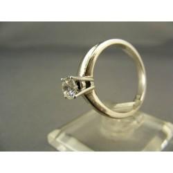 Diamantový prsteň v bielom zlate VD55443