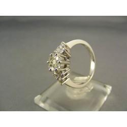 Diamantový prsteň v bielom zlate VD54420