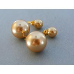 Dámske náušnice ch. oceľ perla napichovačky VAO532 316L 5.32g