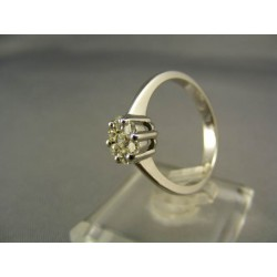 Diamantový prsteň biele zlato 18 karatové VD57400
