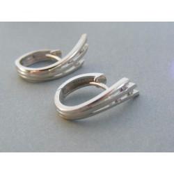 Zlaté dámske náušnice biele zlato diamanty DA443B 14 karátov 585/1000 4.43g