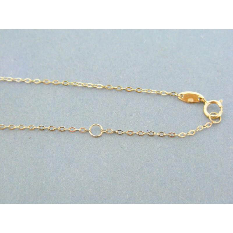 eb12fa2c3 Zlatá retiazka dámska zdobená žlté zlato DR45289Z 14 karátov 585/1000  2.89g. Loading zoom