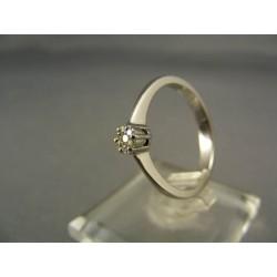 Diamantový prsteň biele zlato VD55300
