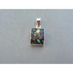Strieborný dámsky prívesok kameň opál DIS077 925/1000 0.77g