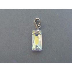 Strieborný dámsky prívesok kameň swarovského VIS078 925/1000 0.78g