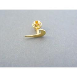 Zlatá náušnica nike šrubovačka žlté zlato prava VDA045Z 14 karátov 585/1000 0.45g