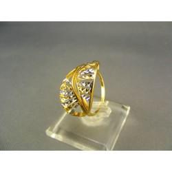 Pekný dámsky prsteň viacfarebné zlata DP54288V
