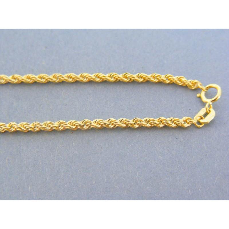 458dbf449 Zlatá retiazka žlté zlato točený vzor DR55192Z 14 karátov 585/1000 1.92g. Loading  zoom