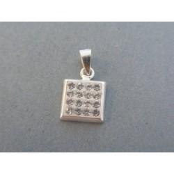 Strieborný dámsky prívesok kameň swarovského DIS097 925/1000 0.97g