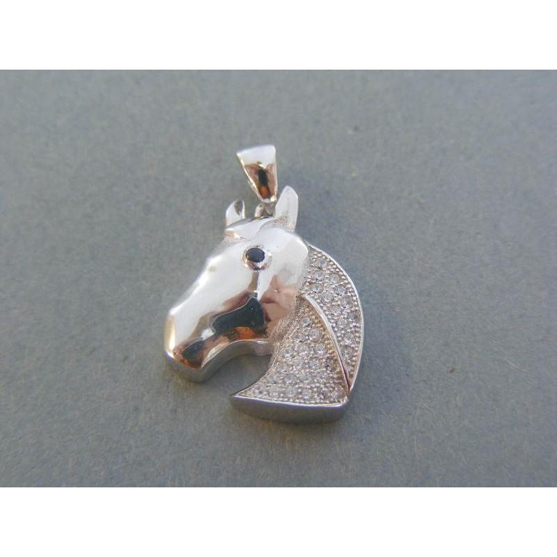 b79ddf759 Strieborný prívesok kôň kamienky zirkónu DIS333 925/1000 3.33g. Loading zoom