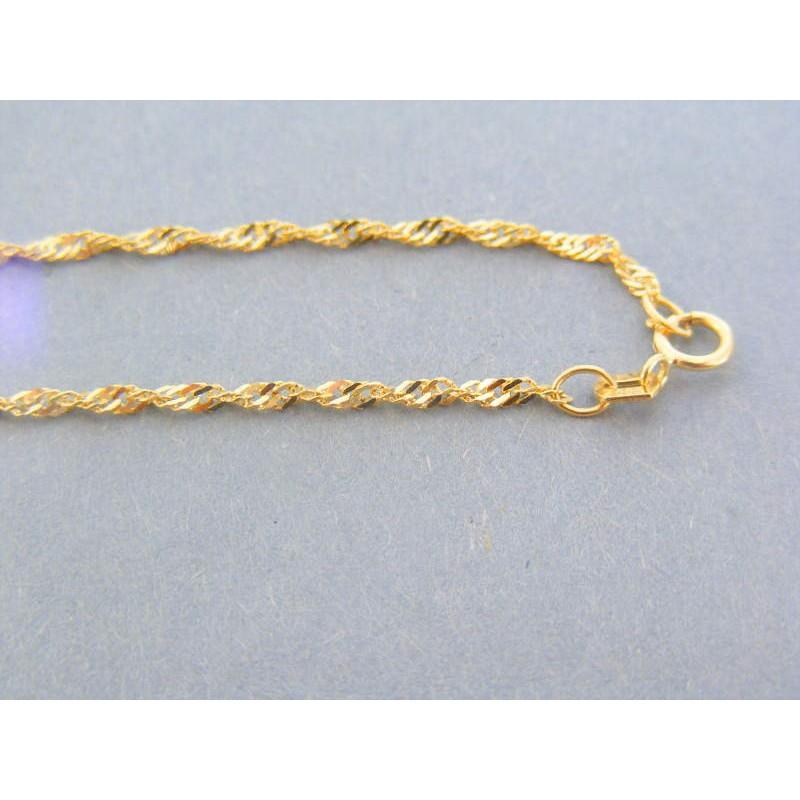 d10edd2e0 Zlatá retiazka točená vzor singapúr žlté zlato DR55288Z 14 karátov 585/1000  2.88g. Loading zoom