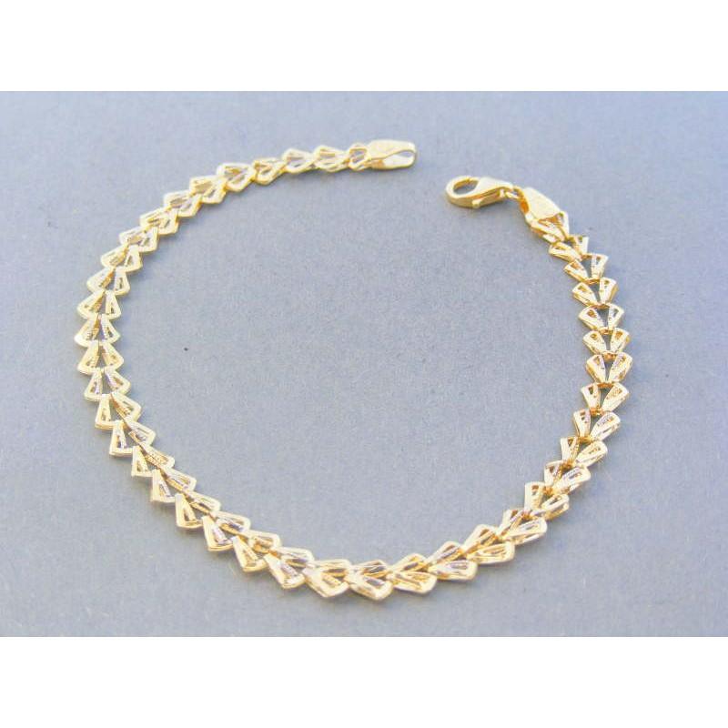 c400156a8 Zlatý dámsky náramok žlté biele zlato zdobený VN19254V 14 karátov 585/1000  2.54g. Loading zoom