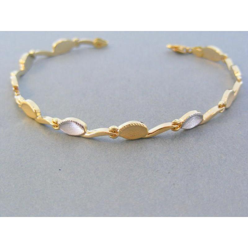 4b4e575d9 Zlatý dámsky náramok žlté biele zlato zaoblený VN19342V 14 karátov 585/1000  3.42g. Loading zoom