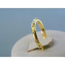 Zlatý prsteň rúženec žlté zlato v starom rustikálnom stýle VP55168R