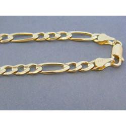 Zlatá retiazka žlté zlato vzor figáro VR5551960Z 14 karátov 585/1000 19.60g
