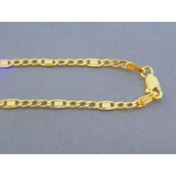 0229ca146 Zlatá retiazka žlté zlato vzor figáro VR42240Z 14 karátov 585/1000 2.40g