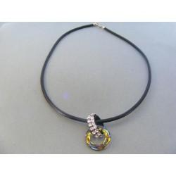 Strieborná dámska retiazka náhrdelnik kameň swarovského DRS445651 925/1000 6.51g