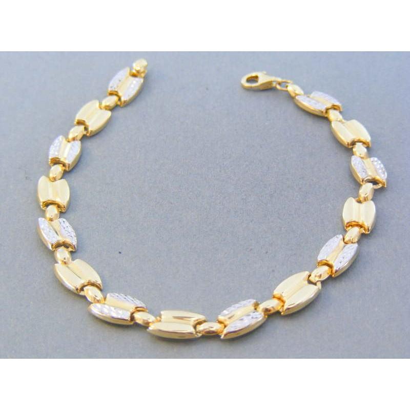 12da5ed24 Zlatý dámsky náramok žlté biele zlato vzorovaný DN195538V 14 karátov  585/1000 5.38g. Loading zoom