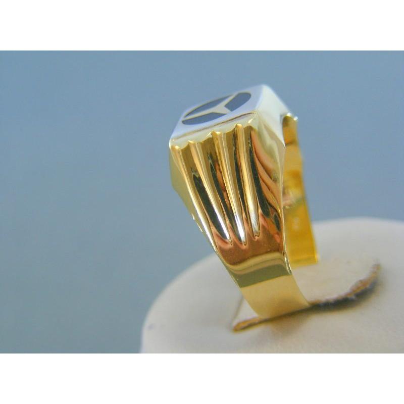 86d587030 Zlatý pánsky prsteň mercedes žlté zlato VP66412Z 14 karátov 585/1000 4.12g.  Loading zoom