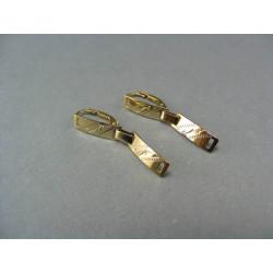 Zlaté náušnice visiace zlato biele  dve zaoblené platničky VA212B