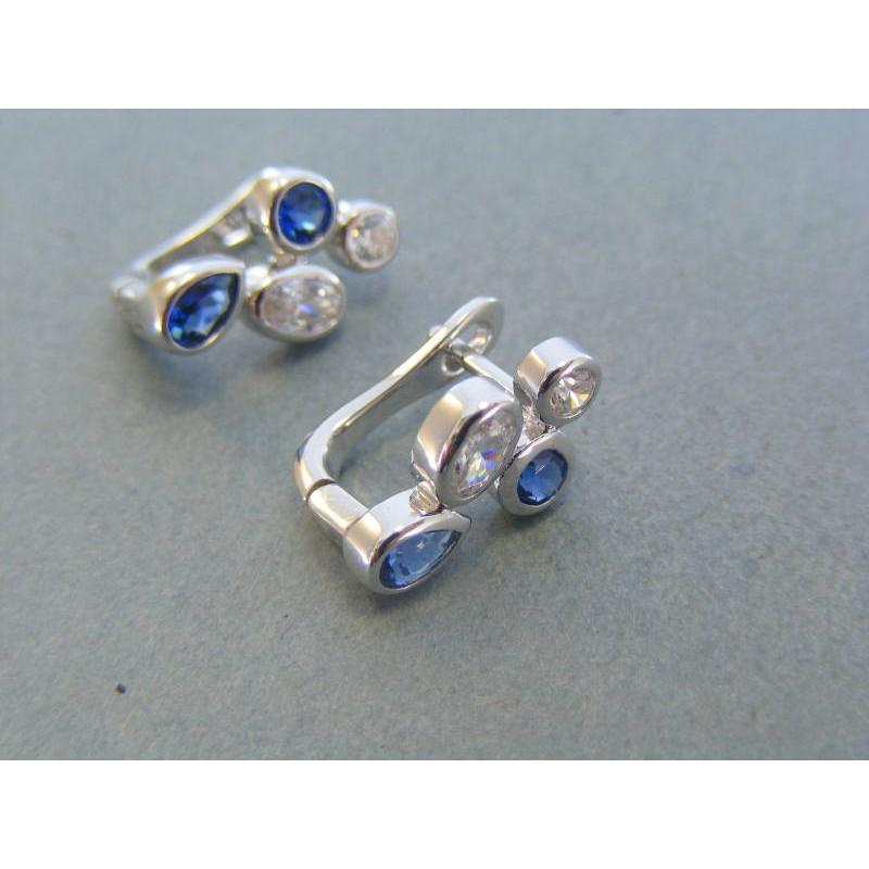 535a3b2f8 Strieborné dámske náušnice modré kamienky DAS378 925/1000 3.78g. Loading  zoom