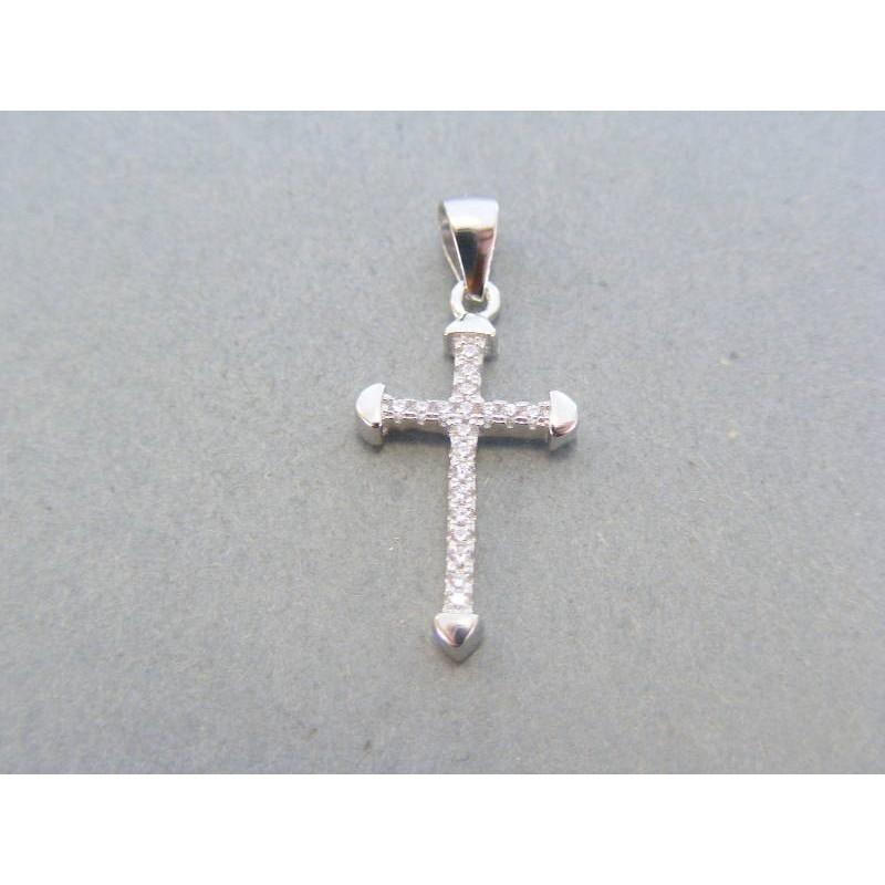 c13abc965 Strieborný prívesok krížik kamienky DIKS118 925/1000 1.18g