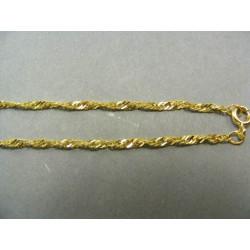 Zlatá retiazka žlté zlato točený vzor VR41282
