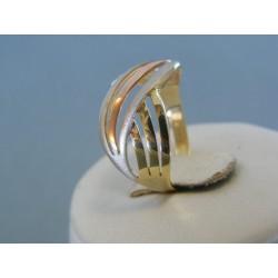 Zlatý dámsky prsteň kombinácia zlata VP56304V 14 karátov 585/1000 3.04g