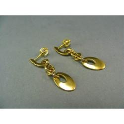 Zlaté náušnice žlté zlato visiace VA380Z