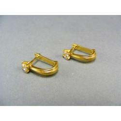Zlaté náušnice zo žltého zlata zirkón VA350Z1