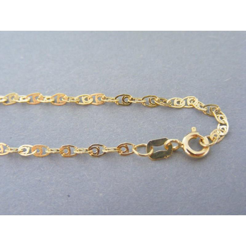 63e86a797 Zlatá dámska retiazka vzorovaná žlté zlato DR45194Z 14 karátov 585/1000  1.94g. Loading zoom
