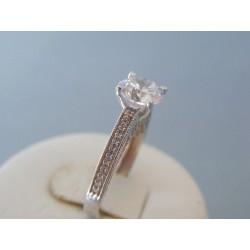 Zlatý dámsky prsteň biele zlato zirkóny VP55351Z 14 karátov 585/1000 3.51g