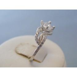 Zlatý dámsky prsteň biele zlato zirkóny VP54195B 14 karátov 585/1000 1.95g