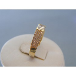 Zlatý dámsky prsteň zirkóny žlté zlato VP55247Z 14 karátov 585/1000 2.47g