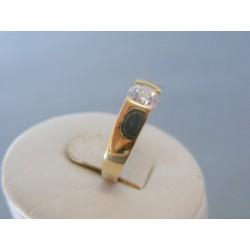 Zlatý dámsky prsteň žlté zlato zirkón VP54231Z 14 karátov 585/1000 2.31g