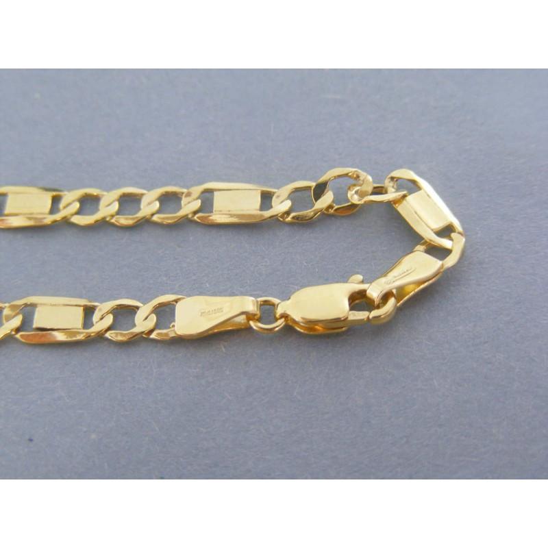 d9d230ed6 Zlatý pánsky náramok vzor figaro žlté zlato VN212267Z 14 karátov 585/1000  2.67g. Loading zoom