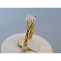 Zlatý dámsky prsteň zirkóny žlté zlato VP61442Z 14 karátov 585/1000 4.42g